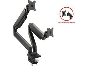 SIIG Dual Monitor Heavy-Duty Premium Aluminum Gas Spring Desk Mount CEMT3011S1