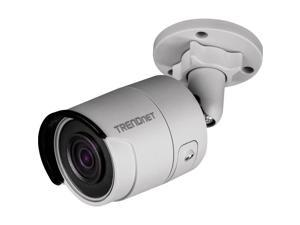 TRENDnet Indoor-Outdoor 4MP H.265 120dB WDR PoE Bullet Network Camera, IP67 Weather Rated Housing, Smart Covert IR Night Vision Up to 30m (98 ft), MicroSD Card Slot (Up to 128GB), White, TV-IP1314PI