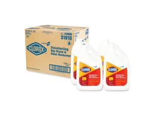 Clorox 31910EA Disinfecting Bio Stain and Odor Remover, Fragranced, 128 oz. Refill Bottle