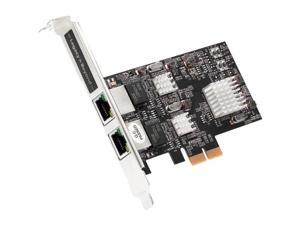 SIIG Dual 2.5G 4-Speed Multi Gigabit Ethernet PCIe Card LBGE0711S1