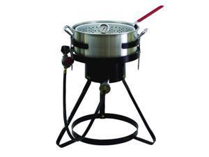 Chard 10.5 QT. Fish and Wing Fryer W/Strainer Basket Set FFPA105C