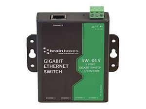Brainboxes Compact 5 Port Gigabit Ethernet Switch DIN Rail Mountable SW015