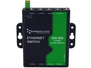 Brainboxes 8 Port Unmanaged Ethernet Switch Wall Mountable SW008