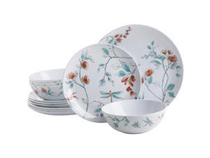 12 pc Melamine serve 4 dinner