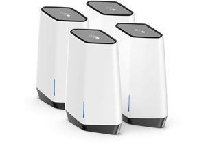 NETGEAR Orbi Pro WiFi 6 Business Tri-band Mesh AX6000 System with 1 Router and 3 Satellites (SXK80B4)