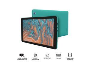 "DP Audio Video CTB1016GTL Quad Core Processor 1.50 GHz 1 GB Memory 16 GB Flash Storage 10.1"" 1024 x 600 Tablet PC Android 10 Teal"