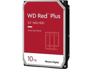 WD Red Plus 10TB NAS Hard Disk Drive - 7200 RPM Class SATA 6Gb/s, CMR, 256MB Cache, 3.5 Inch - WD101EFBX