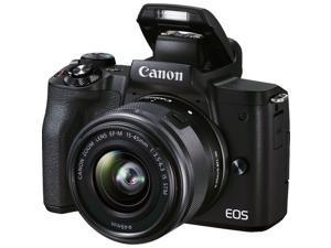 Canon EOS M50 Mark II 24.1 Megapixel Mirrorless Camera with Lens Black 4728C006