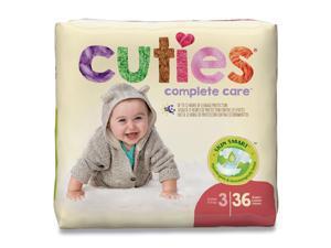 Cuties Premium Jumbo Diapers, Size 3, 16 lbs to 28 lbs, 144/Carton (CTJ72923)
