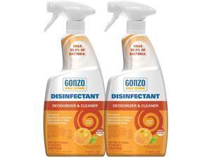 Gonzo Natural Magic Disinfectant & Deodorizer, Citrus Scent 24oz Bottle (2 Pack)