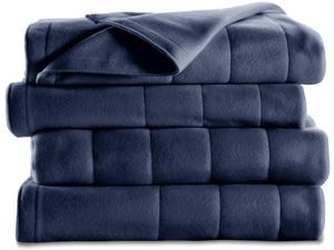 Sunbeam Quilted Fleece Heated Blanket - Twin Size - 10 Hour (Automactic Shut Off) - 10 Heat Settings