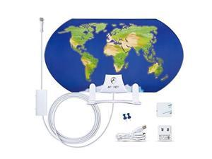 ANTOP AT-122B World Map Indoor Smartpass Amplified HDTV Antenna