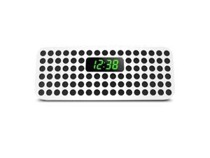 Philips Bluetooth Wireless Speaker with Clock Display, White SBT310W/37