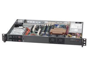 Supermicro CSE-510T-203B Supermicro Case CSE-510T-203B 1U High-Efficiency Low Noise 2.5inch Drive Bay 200W Black