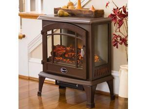 World Marketing Comfort Glow Sanibel 3-Sided Infrared Quartz Electric Stove, Bronze Finish EQS5147