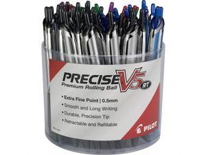 PILOT Precise V5 RT Premium Rolling Ball Pens, Tub of 48 Pens, Assorted Colors, Retractable and Refillable (5685A)