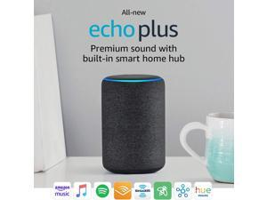 Amazon B0794W1SKP All-new Echo Plus (2nd gen) - Premium Sound with built-in Smart Home Hub - Charcoal