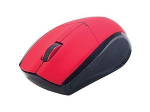 staples wireless mouse, red