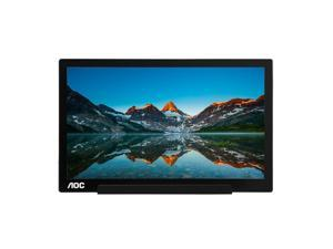 Refurbished: AOC I1601FWUX 16-Inch IPS Extremely Slim USB-C Powered Portable Monitor, 1920x1080 Res, 5ms, Smart ...