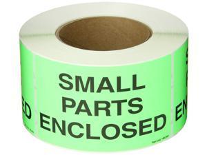 Fluorescent Green Roll of 500 Tape Logic DL1126 Special Handling Label Legend Caution Sharp Objects Inside 5 Length x 3 Width