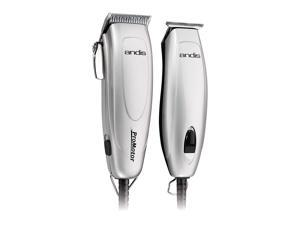 Andis Promotor+ Combo 27-Piece Haircutting Kit, Silver
