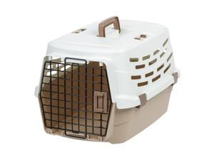 IRIS Medium Easy Access Pet Travel Carrier, Off-White/Brown