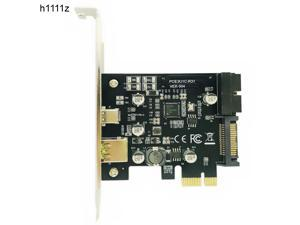 PCI Express PCI e To USB 3.1 Type C Riser Post Card PCIe to USB C 2.4A Fast Charger+19PIN Front USB Miner Expansion Adapter Card