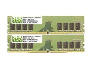 NEMIX RAM 16GB Kit (2 x 8GB)  DDR4-2666 UDIMM 1Rx8 for ASUS Motherboards
