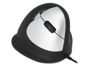 R-GO BREAK Medium Vertical USB Wired Mouse, Right Hand - Black