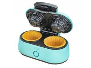 Brentwood TS-1402BL 1000w Double Waffle Bowl Maker Blue