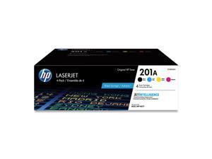 HP 201A 4-pack Black/Cyan/Magenta/Yellow Original LaserJet Toner Cartridges, CF400AQ1