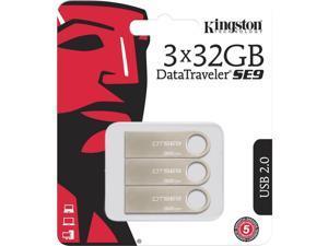 32GB USB 2.0 DATATRAVELER SE9 (METAL CASING) (3 PACK)