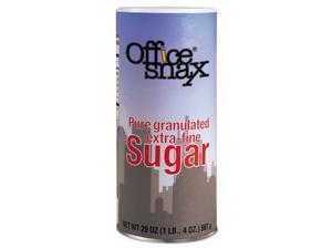 Office Snax 00019CT 20-oz 24 per Carton Reclosable Canister of Sugar