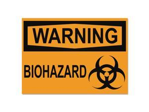Headline Sign OSHA Safety Signs WARNING BIOHAZARD Orange/Black 10 x 14 5498