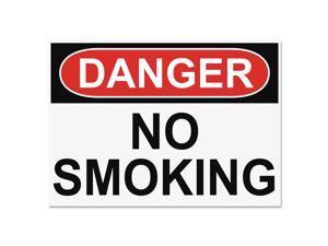 Headline Sign OSHA Safety Signs DANGER NO SMOKING White/Red/Black 10 x 14 5484