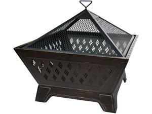 Landmann Brooke Outdoor Fire Pit with 4 Legs and Built in Base