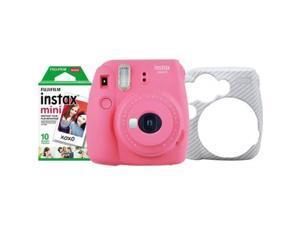Mini 8 Close-Up Compatible for Fujifilm Instax Mini 9 63-Piece Accessory Bundle Includes; Case Plastic Frames Photo Album Mini 8+ Raspberry Red More Lens Filters Instant Film Camera