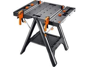 WORX Pegasus Portable Folding Work Bench & Sawhorse w/ Bar Clamps |