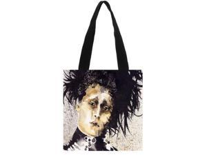 Edward Scissorhands Women Men Fashion Casual Shopping School Bag Shoulder Canvas Tote Bag For Girls size:11.8x11.8 inches Double-sided Printing