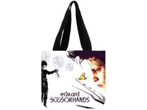 Edward Scissorhands Canvas Tote Bag Foldable Grocery Bag Large Capacity Recyclable Bag Simple Design Healthy Bag size:12.2x11x3.3 inches Double-sided Printing