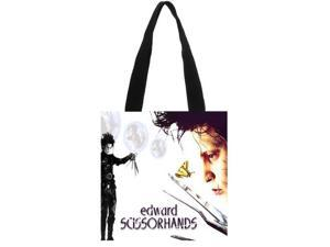 Edward Scissorhands Canvas Tote Bag Ladies Shoulder Bag Handmade Shopping School Travel Folding Shoulder Shopping Bag size:11.8x11.8 inches Double-sided Printing