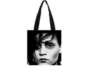 Edward Scissorhands Solid Canvas Tote Bag Shoulder Bag Eco Shopping Bag Daily Use Foldable Crossbody Bag Purses Casual Handbag size:11.8x11.8 inches Double-sided Printing