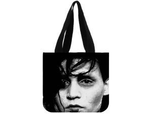 Edward Scissorhands Women Fashion Casual Shopping School Bag Shoulder Canvas Tote Bag For Girls size:12.2x11x3.3 inches Double-sided Printing