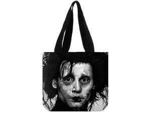 Edward Scissorhands Canvas Tote Bag Eco Shopping Bag Daily Use Foldable Handbag Large Capacity Canvas Tote for Women Female size:12.2x11x3.3 inches Double-sided Printing