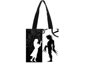 Edward Scissorhands High-Quality Women Men Handbags Canvas Tote Bag/Tote Bag Grocery Reusable Eco Foldable Shopping Cart size:11.8x11.8 inches Double-sided Printing
