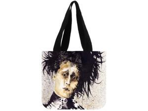 Edward Scissorhands High Capacity Women Tote Ladies Casual Solid Shoulder Bag Foldable Reusable Women Shopping Beach Bag size:12.2x11x3.3 inches Double-sided Printing