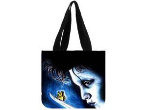 Edward Scissorhands New Foldable Shopping Bag Reusable Tote Pouch Women Travel Storage Handbag Fashion Shoulder Bag Female Canvas Shopping Bag size:12.2x11x3.3 inches Double-sided Printing