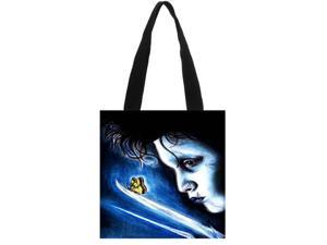 Edward Scissorhands Canvas Tote Bag Eco Shopping Bag Daily Use Foldable Handbag Large Capacity Canvas Tote for Women Female size:11.8x11.8 inches Double-sided Printing