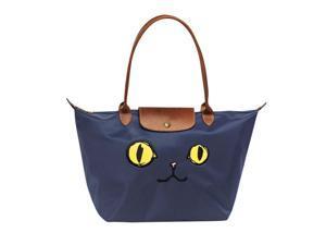Longchamp Le Pliage Miaou Cat Large Tote Bag Long ... 179596c076299