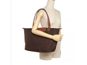 9353181cf5e7 Longchamp Le Pliage Large Nylon Tote Chocolate 1899089203